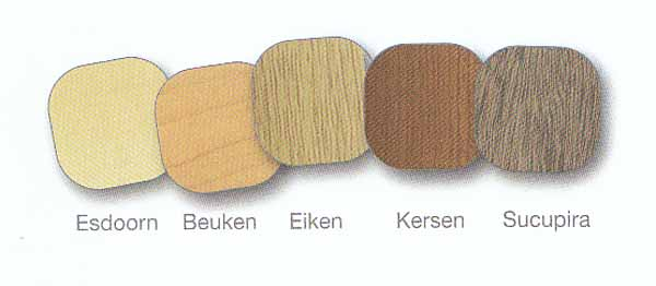 plinten 5 houtkleuren
