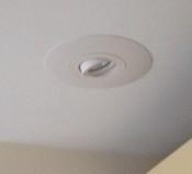 Plafondspot wit met brede rand