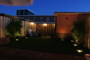 Tuinverlichting Zoetermeer grondspots