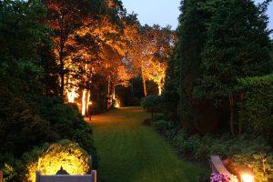 Tuinverlichting diepe tuin