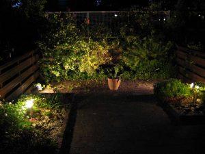 Tuinverlichting tuin Den Haag achterin