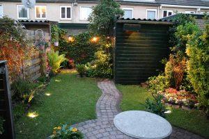 Tuinverlichting tuin Den Haag voor donker